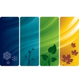 Four abstract backgrounds vector image vector image