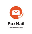 fox mail logo vector image