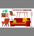 furniture creator living room modern vector image