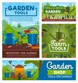 gardening and farming tools garden instruments vector image vector image