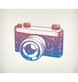hand drawn retro camera Hipster vector image vector image