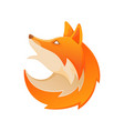 head fox logo vector image vector image