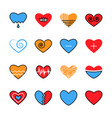 heart flat and line icon trendy bright modern vector image vector image