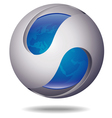 ico ball blue vector image