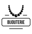 jewelry bijouterie logo simple black style vector image vector image