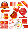 made in china set graphic icons and labels vector image
