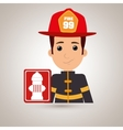 man fire hydrant icon vector image