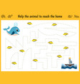 maze game educational children cartoon game vector image vector image