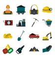 Mining icons flat set vector image vector image