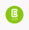 modern linear logo and sign letter e vector image vector image