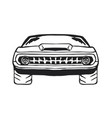 muscle car hand drawn on white vector image