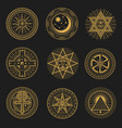 occult occultism alchemy and astrology signs vector image
