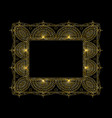 ornate frame and borders set vector image vector image