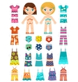 Paper dolls vector image vector image