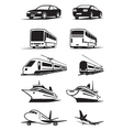 Passenger transportation in perspective vector image vector image