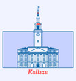 poland municipal house in line art vector image