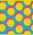 pop-art style seamless print yellow circles and vector image vector image