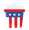 popcorn united state independence day related icon vector image vector image