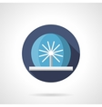 Radial fountain flat color icon vector image vector image