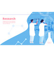 research lab landing researcher chemist doing vector image vector image