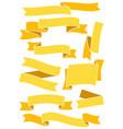 ribbonsandbanners63 vector image vector image