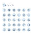 Round Service Icons vector image