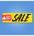 Sale 50 percent off vector image vector image