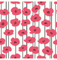 Seamless pattern with stylized poppies for design vector image
