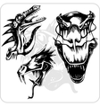 Set - Aggressive Dragon vector image