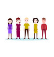 set boy girl character serious male female vector image