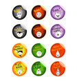 set of various evils and monsters on halloween sti vector image