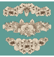 Set of vintage flowers compositions vector image vector image