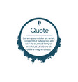 simplicity quote geometric circle shape with vector image vector image