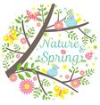 Spring Season Icons Heading vector image vector image