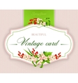 Spring vintage elegant card with flowers vector image vector image