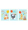 stylish happy birthday celebrating cards vector image vector image