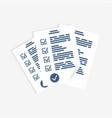 survey form paper sheets exam form checklist vector image