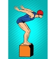 Swimmer at the start water sports summer games vector image vector image