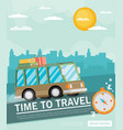 vacation travelling concept flat design vector image vector image