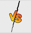 versus sign gradient style with shadow isolated vector image vector image