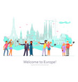 welcome to europe page website vector image vector image