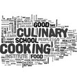 what does it take to be in culinary arts text vector image vector image