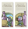 winemaking and grapes vintage sketch set of vector image vector image