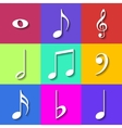 Set of Flat Music Notes Icons vector image