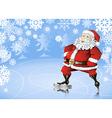 skating santa vector image
