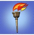 sports torch fire torchbearer vector image
