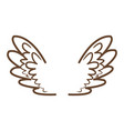 wings feathers angel bird freedom icon vector image