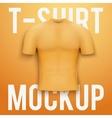 Orange t-shirt on background Product mockup vector image