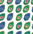 Seamless feather pattern vector image