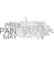abdominal pain text word cloud concept vector image vector image